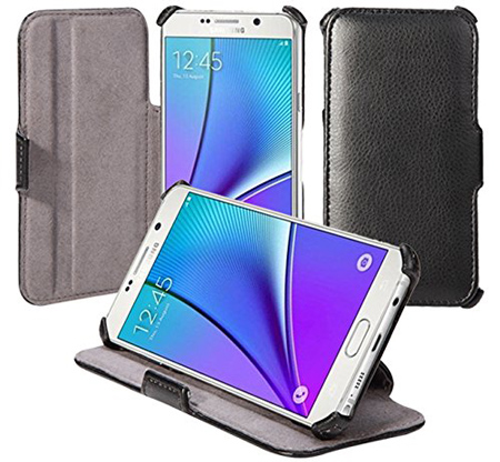 7. Leather Protective Stand Case For The Samsung Notes 5