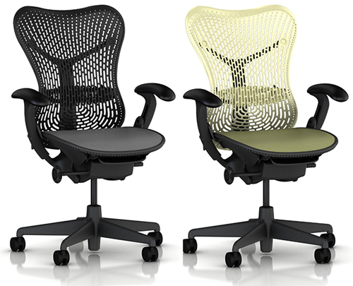 1. Mirra Chair by Herman Miller: Fully Featured - Adjustable Arms