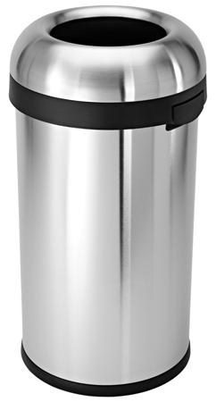 1. Simplehuman Bullet Open Trash Can