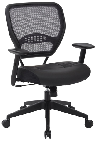 11. SPACE Seating Professional AirGrid Dark Back and Padded
