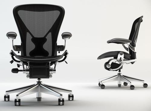 aeron chair by herman miller highly adjustable posturefit lumbar back support cushion