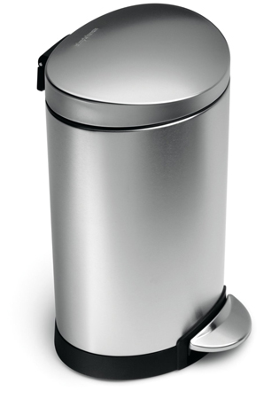 10. Simplehuman Mini Semi-Round Step Trash Can