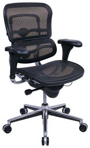 eurotech seating ergohuman collection high back ergonomic chair in black mesh chrome frame - Ergonomic Chair