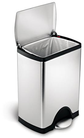 9. Simplehuman Rectangular Step Trash Can