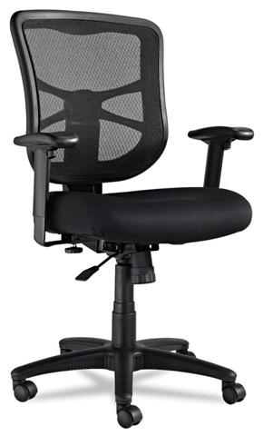 10. Alera Elusion Series Mesh Mid-Back Swivel / Tilt Chair, Black