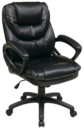 6. WorkSmart Faux Leather Manager's Chair