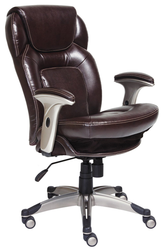 9. Serta 44187 Back in Motion Health and Wellness Mid-Back Office Chair