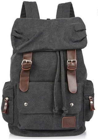 3. Eshops Canvas Casual Backpack for Women & Girls