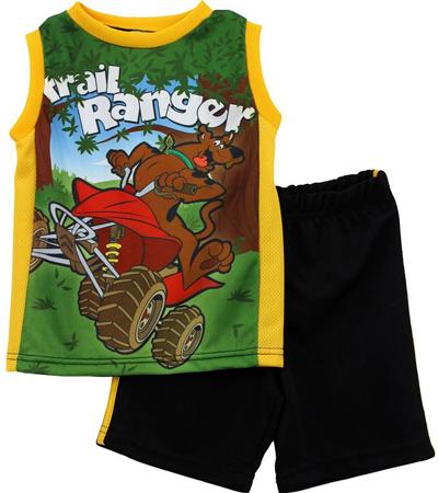 10. Scooby-Doo Toddler Black Top Shorts Set