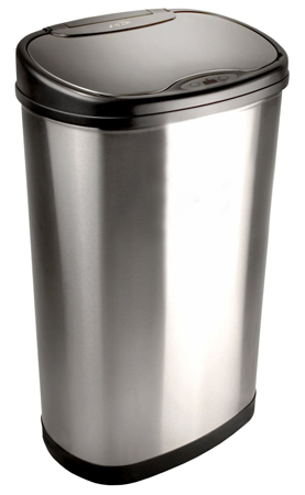8. Nine Stars DZT-50-13 Infrared Touchless Stainless Steel Trash Can