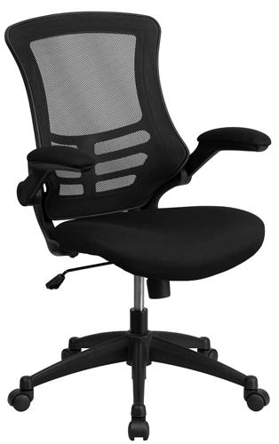 1. Flash Furniture BL-X-5M-BK-GG Mid-Back Mesh Chair