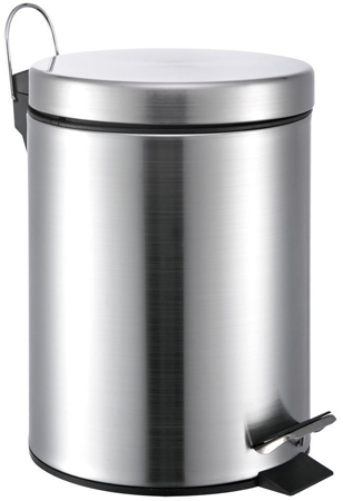 7. 5 Liter/1.3 Gallon Small Round Stainless Steel Step Trash Can
