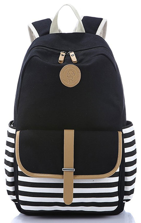 7. Leaper Thickened Canvas Laptop Bag/ Shoulder Daypack / School Backpack/ Causal Style Handbag