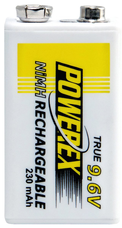 9. Powerex 9.6V 1-Pack Rechargeable Battery