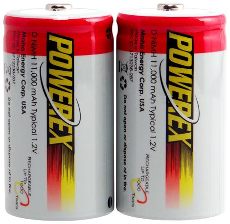 8. Powerex MH-2D110 Rechargeable Batteries