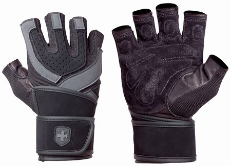 8. 1250 Training Grip WristWrap Gloves by Harbinger