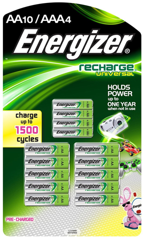 1. Energizer Rechargeable AA