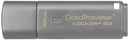 9. Kingston Digital 32GB Data Traveler Locker + G3, USB 3.0 with Personal Data Security and Automatic Cloud Backup (DTLPG3/32GB)
