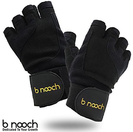 4. Premium Gold Label Weightlifting Gloves by B Nooch