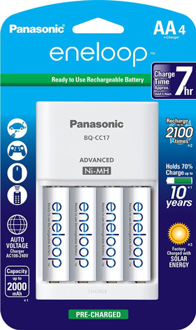 4. Panasonic Advanced Individual Cell Battery Charger