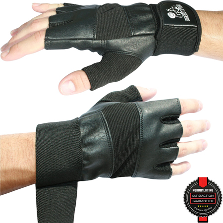 7. Weight Lifting Gloves with Wrist Support by Nordic Lifting