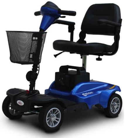 2. EV Rider: Mini Rider 4 Wheel Travel Scooter