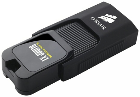 10. Corsair Flash Voyager Slider X1 256GB USB 3.0 Flash Drive (CMFSL3X1-256GB)