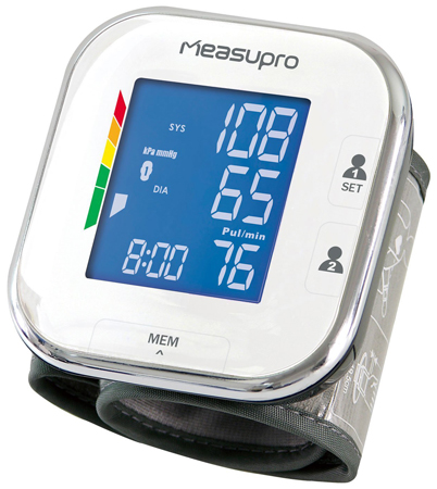 3. MeasuPro Wrist Digital Blood Pressure Monitor with Heart Rate Monitor