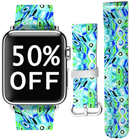 7. iWatch 38mm Women's Band for Apple Watch by UKASE