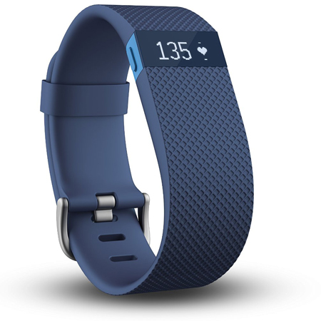 2. Fitbit Charge HR, Blue, Large