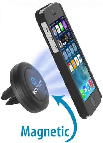 11. Car Mount, Wiz Gear Universal Air Vent Magnetic Car Mount Holder