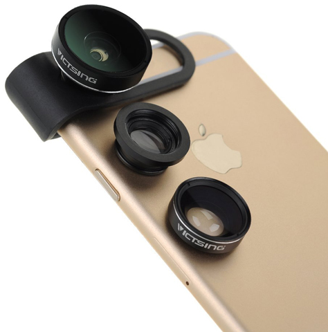 10. VicTsing[Upgraded Fisheye Lens] 3 In 1 Clip-On