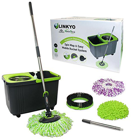 4. LINKYO Spin Mop and Bucket System