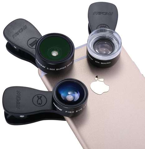 14. Mpow 3 In 1 Clip Lens Kits