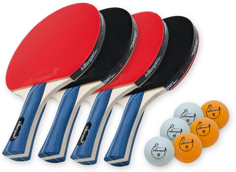 8. Killerspin JETSET 4 Table Tennis Paddle Set with Balls