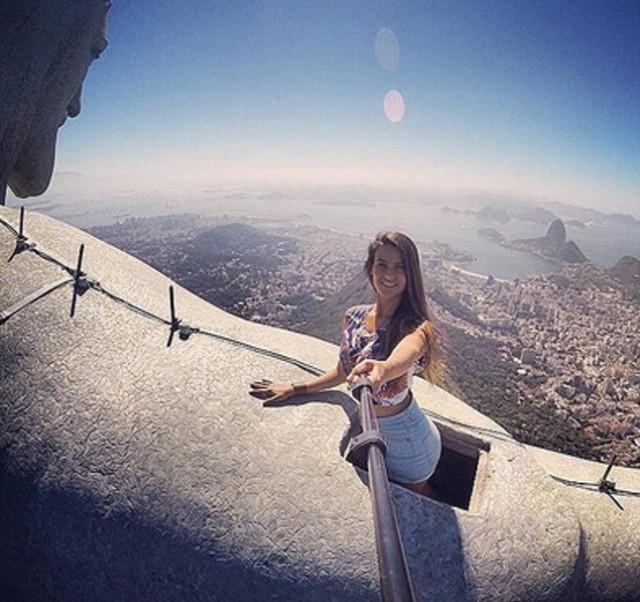 лучшее место для селфи в Рио-статуи Христа-Искупителя