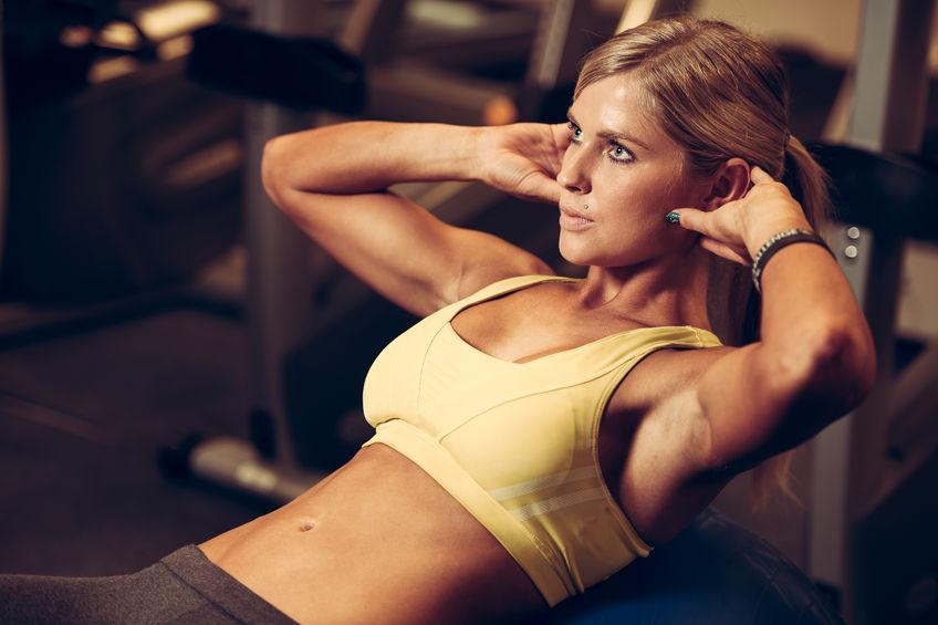 woman workout fitness program